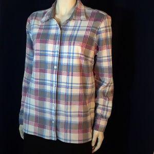 Riders soft flannel plaid shirt L